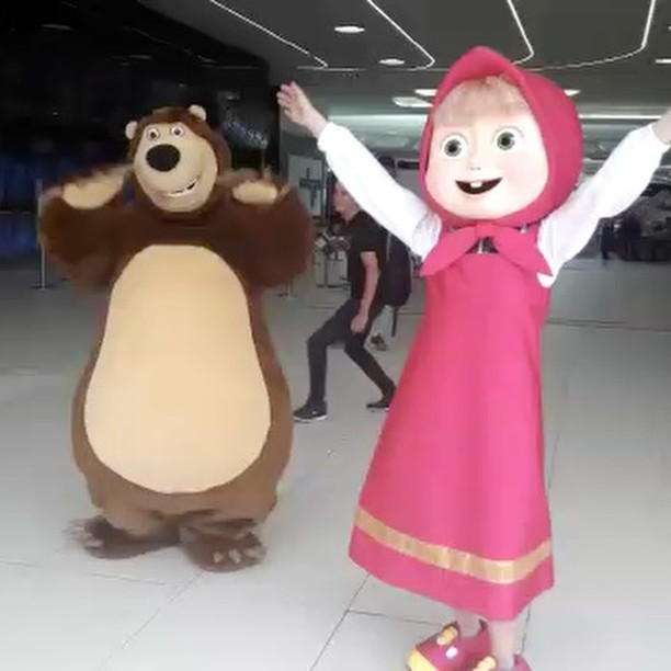 Hello from Masha and the Bear! #mymegamall